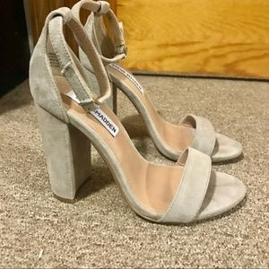 Steve Madden Taupe Suede Carrson Heeled Sandal
